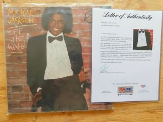 Michael Jackson Off The Wall Autophagraphed Album With From Psa/dna Af88022