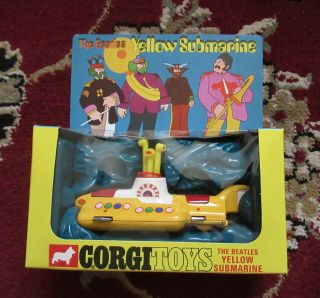 Beatles Vintage 1968 Yellow Submarine Corgi Toy Nm Water Not Cracked