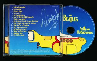 "Beatles Stunning Ringo Starr Signed "" Yellow Submarine Songtracj"