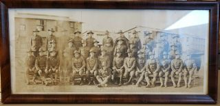Ww1 Photograph,  W/irving Berlin Unit 1918 God Bless America Written