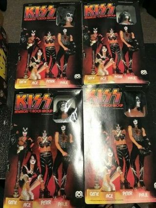 "Vintage Kiss Mego 12 "" Action Figure Set 1978 Gene Ace Paul Peter"
