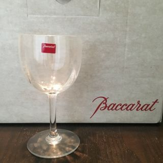 "Baccarat Montaigne Optic Set Of 12 Wine Goblets 2,  Height 6 3/8"","