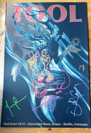 Tool Signed And Doodled Berlin Concert Poster - Signed And Doodled By Adam Jones