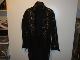 Elvis Ace Of Spades Jumpsuit With Belt And Full Cape & Clothes Bag