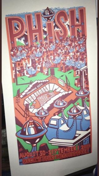 Phish Dicks Jim Pollock Poster Print Commerce City 8/30 - 9/1/2019 Sporting Goods