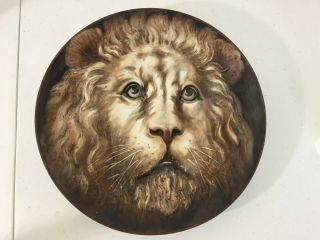 Vintage Rare Nippon High Relief Lion Molded Collectible Plate Exc Cond 10.  5 ""