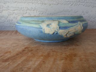 Vintage Newcomb College Pottery Daffodil Narcissus Low Bowl Anna Frances Simpson