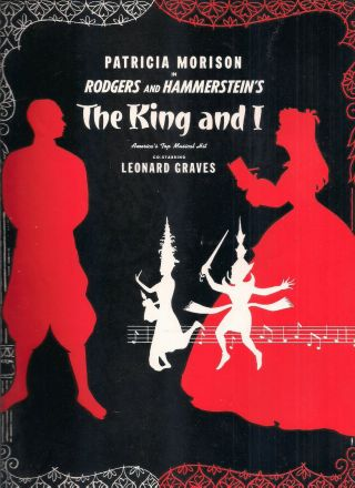 """6 Vintage Broadway Souvenir Programs """" King And I  Call Me Madam  Can - Can """",  3"""