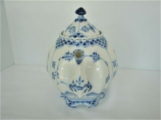 Royal Copenhagen Blue Fluted Full Lace Gargoyle Teapot 1117 1St Quality 2