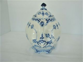 Royal Copenhagen Blue Fluted Full Lace Gargoyle Teapot 1117 1St Quality 4
