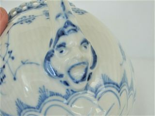 Royal Copenhagen Blue Fluted Full Lace Gargoyle Teapot 1117 1St Quality 5