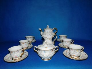 Meissen Tea Set For 6 Person Porcelain