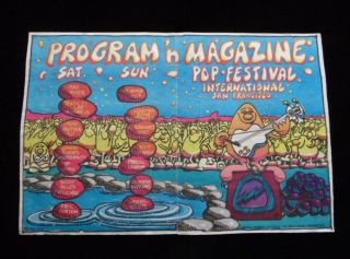 Orig.  /rare 1968 San Francisco International Pop Festival Program/poster