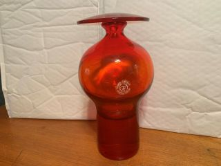 Tom Connally Design Greenwich Flint Craft 1193 Orange Decanter