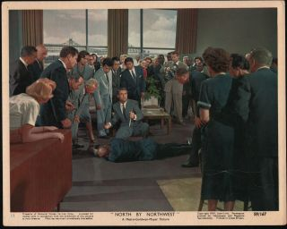 North By Northwest 1959 Lobby Still Photo Cary Grant/alfred Hitchcock