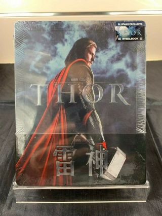 Thor Blufans Exclusive Blu - Ray Steelbook 1/4 Quarter Slip Rare,  New/sealed