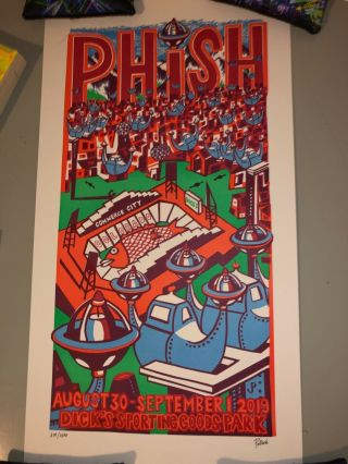 Phish Dicks Jim Pollock Poster Print Commerce City Dicks Sporting Goods Park