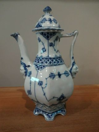 Royal Copenhagen Blue Fluted Full Lace Gargoyle Coffee Pot 1030