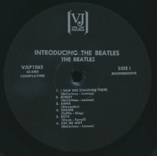 Beatles Ultra Rare 1964 Us Vj Introducing The Beatles Mono Lp All Black Brackets