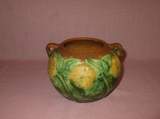 Roseville Pottery Arts & Crafts Sunflower Handled Vase 213 - 4 1930 4 1/4 ""