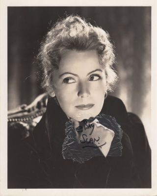 Greta Garbo Vintage Serene Dblwt Portrait For Conquest By Clarence Bull