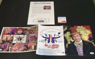 Gene Wilder,  Willy Wonka Kids X6 Cast Signed 8x10 X2 Factory Photos Psa/dna Loa