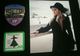 Fleetwood Mac Stevie Nicks Signed Autographed Framed 8x10 Photo,  2 Vip Pass