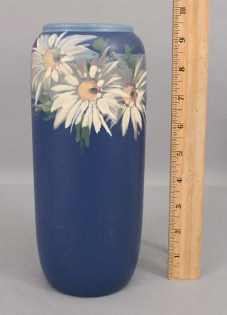 Antique Weller Arts & Crafts Hand Painted Hudson Daisy Flower Art Pottery Vase