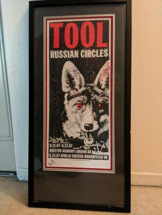 Tool Poster Signed By Entire Band Autographed 2007 Limited Concert Poster Print