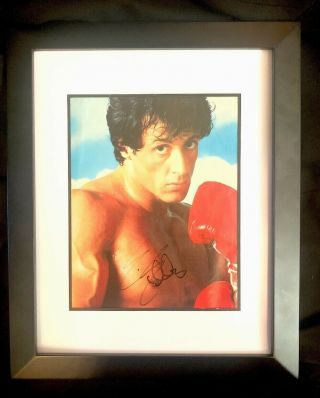 Sylvester Stallone Signed 8x10 Photo Rocky Autograph 100 Authentic