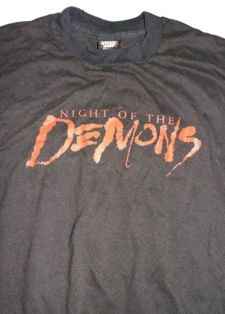 Night Of The Demons T Shirt Xl Vintage 1988 Rare Horror Vhs Dvd Screen Stars