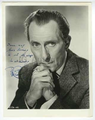 "Peter Cushing - Grand Moff Tarkin From "" Star Wars "" - Autographed 8x10 Photo"