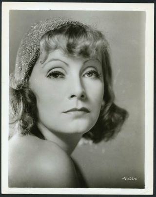 Greta Garbo Vintage 1933 Mgm Portrait Photo