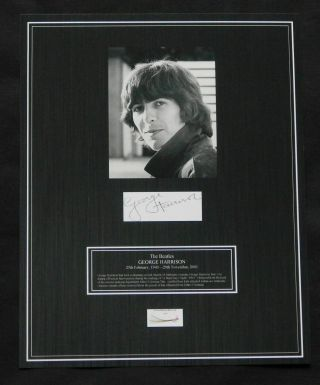 The Beatles / George Harrison / Hair / 1964 Photo & Autograph /