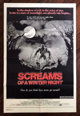 Screams Of A Winter Night 1979 Scary Horror Anthology Cult Movie Poster