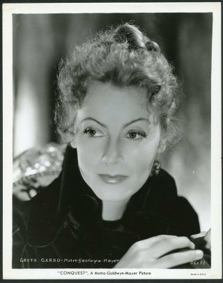 Greta Garbo Vintage 1937 Mgm Portrait Photo