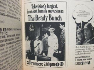 Sep - 1969 Tv Guide (the Brady Bunch Debut/dina Merrill/denise Nicholas/robert Reed
