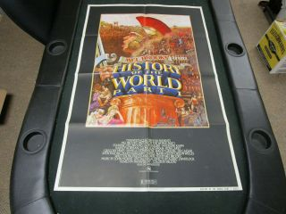 One Sheet 27x41 Movie Poster History Of The World Part 1 1981 Mel Brooks Spartan