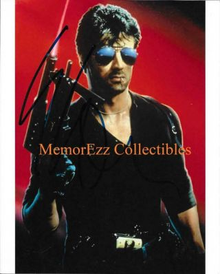 Cobra Sylvester Stallone Signed Autographed 8x10 Color Photo