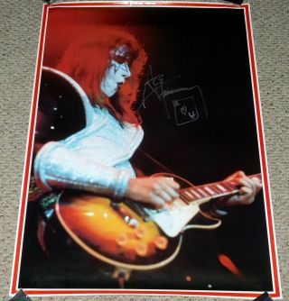 Kiss Band Ace Frehley 1977 Alive 2 In Concert Poster 1990