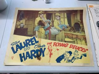 "The Flying Deuces - Laurel And Hardy - R49 Lobby Card/print 14 "" X 11 """