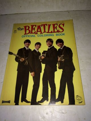 Vintage 1964 Nems The Beatles Official Coloring Book,  Saalfield,