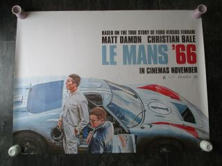Le Mans 66 Uk Movie Poster Quad Double - Sided 2019 Cinema Poster Rare