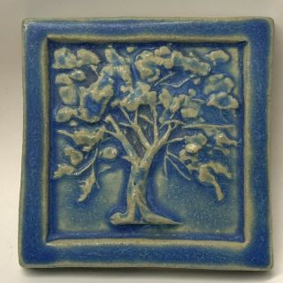 Pewabic Pottery Vintage 1992 Tree Of Life Arts & Crafts Style Tile 5 - 3/4
