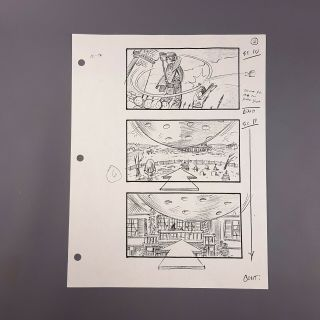 The Addams Family - Production Storyboard: Gomez Golfing On Roof Part 1
