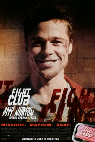 Fight Club (1999) Movie Poster - Advance Brad Pitt - Rolled