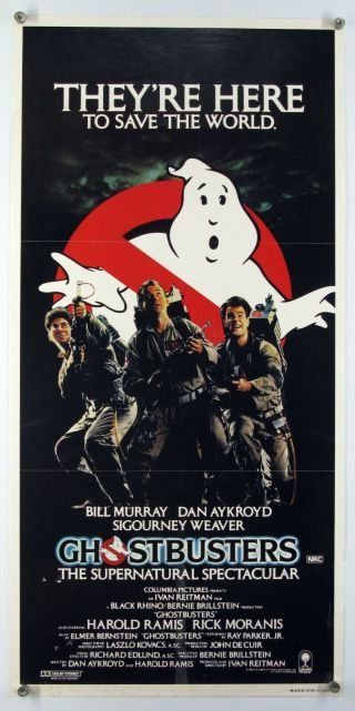 Ghostbusters Murray Weaver Aykroyd Horror Comedy Classic Rare Aus Daybill 1984