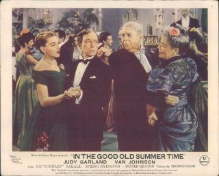 In The Good Old Summer Time Judy Garland Buster Keaton Lobby Card 1949