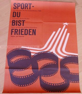 Soviet Olympic Moscow 1980 - Sport You Are Peace Rare East German Art Poster