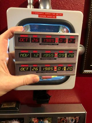 Mini Time Circuits Box From Back To The Future With Backlight